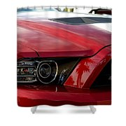 Red Shelby Shower Curtain