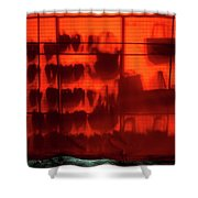 Red Shoes And Purses Shower Curtain