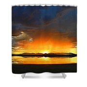 Red Shower Shower Curtain