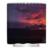 Red Skies At Night Hawaii Shower Curtain