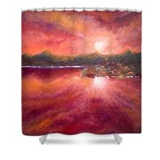 Red Skies At Night Shower Curtain
