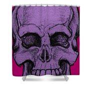 Purple Skull Shower Curtain