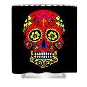 Red Skull Shower Curtain