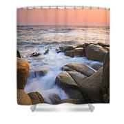 Red Sky At Morning Shower Curtain