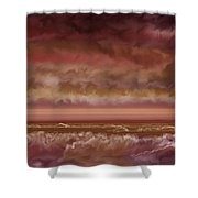 Red Sky At Night Sailor Delight Shower Curtain