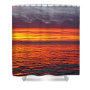 Red Sky In Morning, Sailor's Warning Shower Curtain
