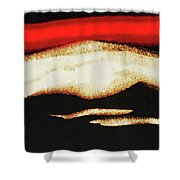 Red Sky In The Morning Shower Curtain