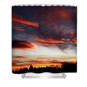 Red Sky Shower Curtain by Julian Perry