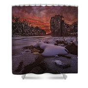 Red Sky, King Rock  Shower Curtain