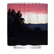 Red Sky Over The Andies Shower Curtain