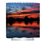 Red Sky Shower Curtain