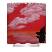 Red Sky1 Shower Curtain