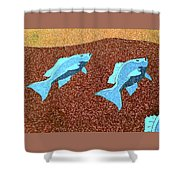 Red Snapper Inlay Sunny Day Invert Shower Curtain