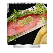 Red Snapper. Shower Curtain