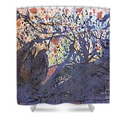 red snow, 19 March 2015 Shower Curtain