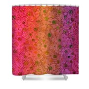 Red Sparkle Lace Shower Curtain