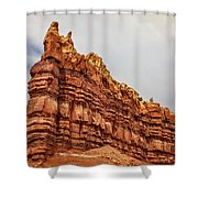 Red Spires Shower Curtain