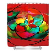 Red Stain Shower Curtain