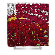 Red Stained Glass Shower Curtain