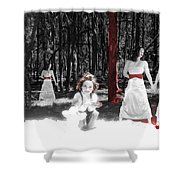 Red Stains - Self Portrait Shower Curtain