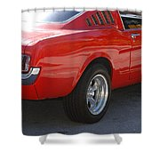 Red Stang Shower Curtain