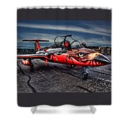 Red Star Viper Russian Side Shower Curtain