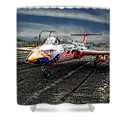 Red Star Viper United States Side Shower Curtain