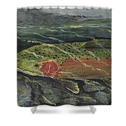 Red Steelhead Shower Curtain