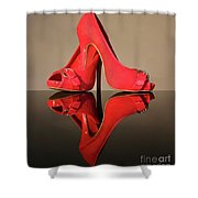 Red Stiletto Shoes Shower Curtain
