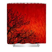 Red Storm Shower Curtain
