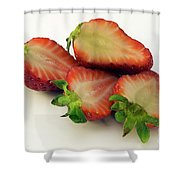 Red Strawberry Shower Curtain