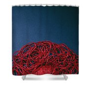 Red String Shower Curtain