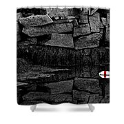 Red Stripe Express Shower Curtain