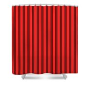 Red Striped Pattern Design Shower Curtain