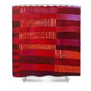 Red Stripes 2 Shower Curtain