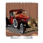 Red Stutz Shower Curtain