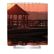 Red Sun Rising Shower Curtain