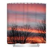 Red Sun Set Shower Curtain
