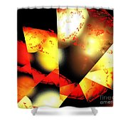 Red Sun Shell Shower Curtain