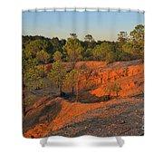 Red Sunset Cliffs Shower Curtain