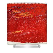 Red Surf On The Beach Shower Curtain