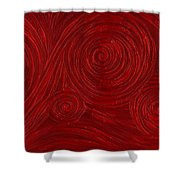Red Swirl Shower Curtain