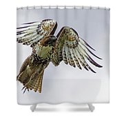 Red Tail Takeoff Shower Curtain