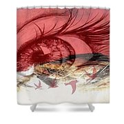 Red Tears Shower Curtain