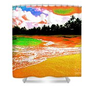 Red Tide Green Tide Shower Curtain