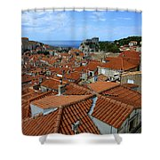 Red Tiled Roofs Of Dubrovnik Shower Curtain