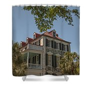 Red Tin Roof On Meeting Street Shower Curtain