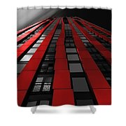 Red To The Sky Shower Curtain