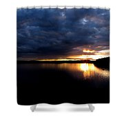 Red Toned Clouds Shower Curtain