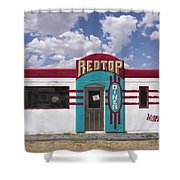 Red Top Diner On Route 66 Shower Curtain
